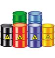 iron barrels vector image