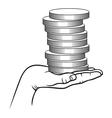 Earning money2 vector image