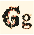 Fiery font Letter G on white vector image