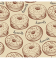Donuts seamless pattern background vector image vector image