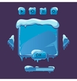 User interface for winter game vector image