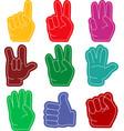 hand gestures flat vector image