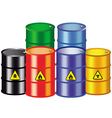 iron barrels vector image