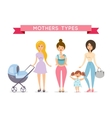 Moms with babys vector image