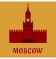 Moscow Kremlin landmark flat symbol vector image