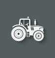 tractor silhouette icon vector image