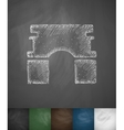 Triumphal Arch icon Hand drawn vector image