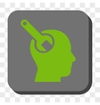 Brain Tool Rounded Square Button vector image