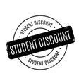 Student Discount rubber stamp vector image