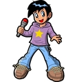 Anime Manga Boy Pop Star vector image