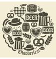 grungy design oktoberfest icons set vector image