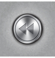 round metal backward rewind knob vector image