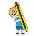 boy pencill vector image vector image