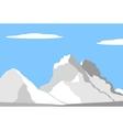 beautiful peaks in alps vector image vector image