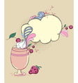 hand drawn retro drink vector image vector image