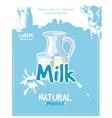 Vintage milk poster vector image vector image