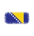 Bosnia and Herzegovina flag halftone vector image