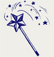 Magic wand vector image vector image