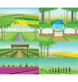 abstract green landscape set vector image