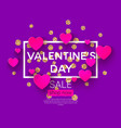 happy valentines day greeting card with lettering vector image
