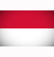 National flag of Indonesia vector image