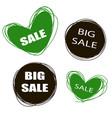 doodle tags sale tags sale banners set love vector image