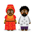 african man and woman in national clothes vector image