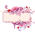 Decorative banner with flowers vector image vector image