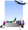 6207 airport vector image vector image