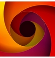 Colorful red orange and yellow paper swirls vector image