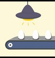 Conveyor with egg vector image