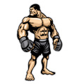 big heavyweight muscle fighter vector image