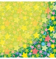 Background Colorful Stars vector image vector image