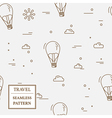 Air balloon seamless pattern Thin line icon vector image