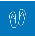 Beach slipper line icon vector image