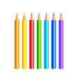 Colourful pencils isolated on white vector image