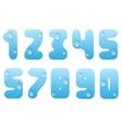 Blue water numbers vector image