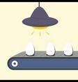 Conveyor with egg vector image