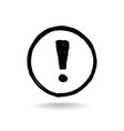 exclamation mark drawn doodle line sign isolated vector image