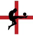 football player with English flag vector image
