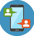 Mobile chat modern social interaction concept Flat vector image