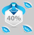 Discount sale labels set vector image vector image