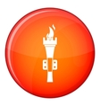 Torch icon flat style vector image