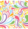 Colorful summer seamless pattern with floral vector image