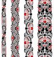 Haida style seamless pattern vector image