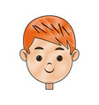 drawing head face smiling child character vector image