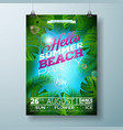 summer beach party flyer design vector image