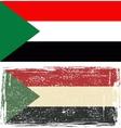 Sudan grunge flag vector image vector image