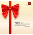 Envelope tied with bow vector image vector image