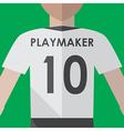 Soccer playmaker number10 vector image